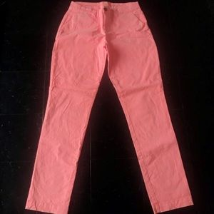 Faded Salmon Broken-In Straight Khakis Size 0